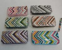 Ladies Fashion Wallet with Wrist Strap [Chevron]